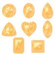 yellow gemstones set vector image vector image