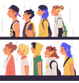 young people different subcultures set side vector image vector image
