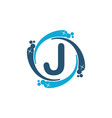 water clean service abbreviation letter j vector image