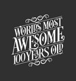 100 years birthday typography design worlds most vector image vector image