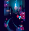abstract urban night light bokeh defocused vector image