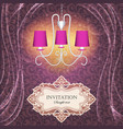background with curtains and a chandelier vector image vector image