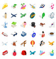 beach icons set isometric style vector image vector image