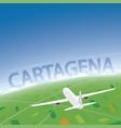 cartagena flight destination vector image vector image