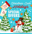 Christmas and new year sale special offer banner