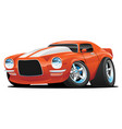 classic muscle car cartoon vector image vector image