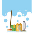 cleaning kit and products vector image