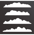 Collection of Various clouds with a big long shape vector image vector image