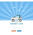 compact white smart car vector image vector image