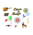 concept on cinco de mayo a set of design elements vector image vector image