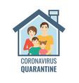 coronavirus quarantine poster isolated white vector image vector image