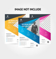 creative corporate business flyer background vector image vector image