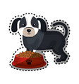 cute doggy pet icon vector image vector image