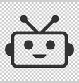 cute robot chatbot icon in flat style bot vector image vector image