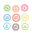 different offer sale tags isolated vector image