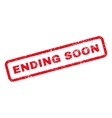 Ending Soon Text Rubber Stamp vector image