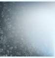falling snow flakes on a blurry gray blue vector image