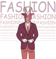 Fashion of goat hipster style vector image vector image