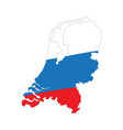 flag and map of netherlands vector image vector image