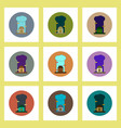 flat icons set of rain cloud and house concept on vector image vector image