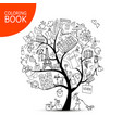 france travel art tree sketch page for your vector image