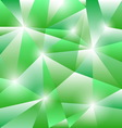 Geometric pattern with green triangles background vector image vector image