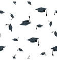 graduation hat seamless pattern school vector image vector image