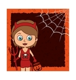 halloween card party invitation vector image vector image