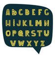 hand drawn modern alphabet in scandinavian vector image vector image