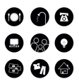 icons of living elements in black and white vector image vector image