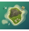 Island or isle with beach and mountain top view vector image vector image