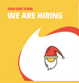 join our team busienss company santa clause we vector image vector image