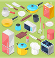 kitchenware household appliance and vector image vector image