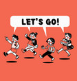 lets go vacation student college teen concept vector image vector image