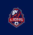 lion football team logo stock vector image