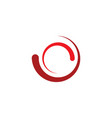 loading icon red logo symbol element vector image