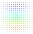 logout shape halftone spectrum pattern vector image vector image