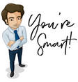 man and word smart vector image vector image