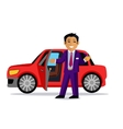 Man Buys a New Car vector image