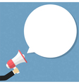 Megaphone with Speech Bubble vector image vector image