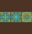 moroccan ceramic tile pattern vector image vector image