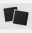 photo frame mockup design realistic photograph vector image vector image