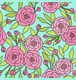 pink peony pattern vector image