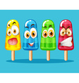 Popsicle with facial expression vector image vector image
