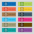 Printing icon sign Set of twelve rectangular vector image