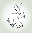 Rabbit in minimal line style