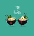 ramen bowls time for ramen vector image vector image