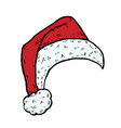 santa hat christmas cap icon vector image