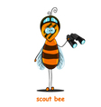 scout bee vector image vector image