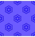 Seamless Blue Geometric David Star Background vector image